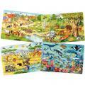 Puzzles à cadre en carton 35 pièces les animaux - Lot de 4