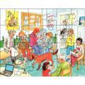 Puzzles 24 pièces, ANIMAUX DOSMESTIQUES - Boite de 3