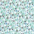Coupon de tissu motifs et couleurs bleu assortis, format 55 x 45,5 cm - Lot de 4