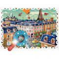 Puzzle d'observation 108 pièces, la ville + 1 loupe