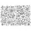 """Coloriage géant thème """"champêtre"""" - Format 70x100 cm - Lot de 5"""