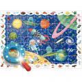 Puzzle d'observation 108 pièces l'espace + 1 loupe