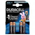 Piles 1,5V LR03 Duracell Ultra Power - Blister de 4