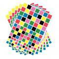 Gommettes carrées - Pochette de 2040