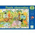 """Puzzle d'observation de 35 pièces """"La jungle"""""""