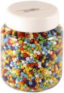 Perle rocaille opaque cylindrique - Sachet de 500g