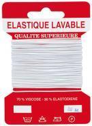 Elastique fin blanc - carte de 10m
