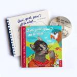 """Livre-CD """"Quoi, quoi, quoi ? dit le chat..."""" - Version en braille"""