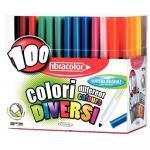Feutres coloriage à pointe large - Présentoir de 100