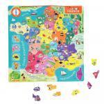Puzzle Carte de France magnétique - 93 pièces