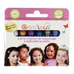 Gros crayons de maquillage métallisés - Boite de 6