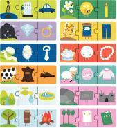 BOITE 12 PUZZLES 3 PIECES ORIGINE CHOSES