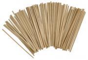 Baguette carrée en bois naturel - 5x195mm - Sachet de 100