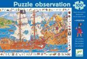 """Puzzle d'observation de 100 pièces """"Les pirates"""""""