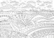 LOT DE 5 COLORIAGES GEANTS VALLONS