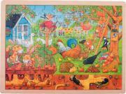 LOT 4 PUZZLES CADRE BOIS 96 PIECES DIVERS