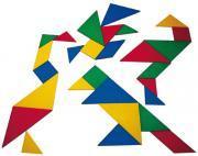 Tangram en plastique - Boîte de 4