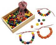 Grosses perles en bois - Boîte de 130