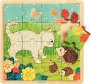 LOT 3 PUZZLES BOIS ANIMAUX 15/16 PIECES