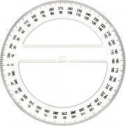 Rapporteur cristal 360° 12cm
