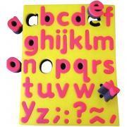 Lot de 26 tampons lettres minuscule + symboles