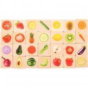 Mémo 28 pièces les fruits et légumes en bois