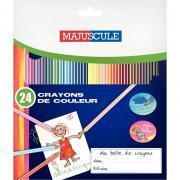 Pochette 24 crayons de couleurs MAJUSCULE