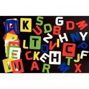 Paquet de 26 pochoirs plastiques alphabétique 20 x 16 cm