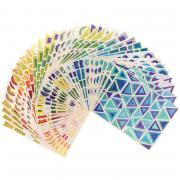 Pochette de 804 gommettes géométriques holographiques
