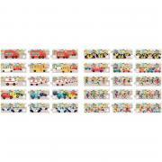 Boite de 10 puzzles additions de 3 pièces, les moyens de transport