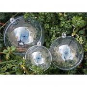 Lot de 15 boules en plastique cristal