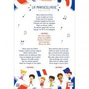 Poster en PVC 76x52cm la Marseillaise
