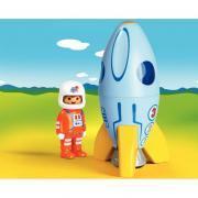 Fusée et astronaute PLAYMOBIL 1-2-3