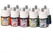 Encre à dessiner Colorex - Couleurs assorties - Boîte de 10 flacons de 45ml