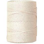 Coton tresse 2,5mm blanc - Pelote de 1kg