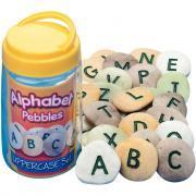 Baril de 26 galets alphabet en majuscule