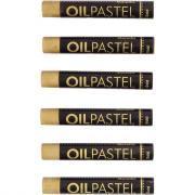 Pastel à l'huile MUNGYO couleur or - Boite de 6