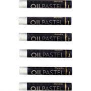 Pastel à l'huile MUNGYO couleur argent - Boite de 6