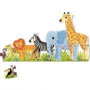 Puzzle XXL 16 pièces dans la jungle