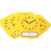 Horloges effaçables à sec 16x12cm - Sachet de 5
