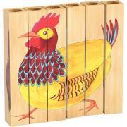 Puzzles Tubulo 4 en 1 Les animaux de la ferme