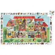 DJECO - Puzzle d'observation de 35 pièces la maison
