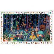 DJECO - Puzzle d'observation de 100 pièces la forêt enchantée
