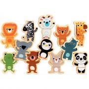 DJECO - Puzzles magnétiques les animaux du zoo 24 pièces