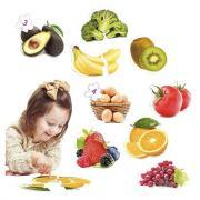 Maxi puzzles photo fruits et légumes - Boite de 9