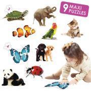 Maxi puzzles contour animaux - Boite de 9