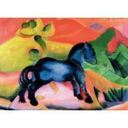 Puzzle en bois 12 pièces le cheval bleu