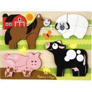 Encastrement en bois XXL 3D les animaux de la ferme. 4 en 1 !