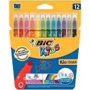 Lot de 12 pochettes 12 Bic Kids couleurs dont 2 gratuits