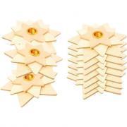 Bougeoir étoiles 3D - En bois brut à décorer - Lot de 10